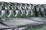 Chesterfield Zetel Original Leer   4-zit   Antiek groen   12 jaar garantie_