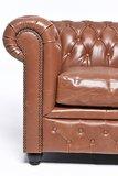 Chesterfield Zetel Vintage Leer | 3-zit | Mokka | 12 jaar garantie_