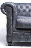 Chesterfield Zetel Vintage Leer | 4-zit | Zwart | 12 jaar garantie_