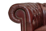 Chesterfield Fauteuil Class Leer | Cloudy Rood_