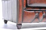Chesterfield Zetel Original Leer   Antiek Bruin   12 jaar garantie_