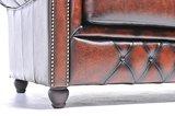 Chesterfield Zetel Original Leer | 2-zits | Antiek Bruin | 12 jaar garantie_
