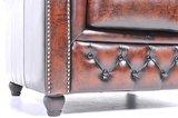 Chesterfield Zetel Original Leer   5-zits   Antiek Bruin   12 jaar garantie_