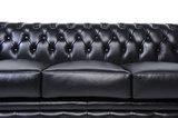 Chesterfield Zetel Original Leer | 1 + 2 zits | Zwart| 12 jaar garantie_