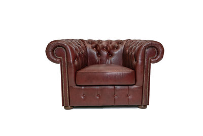 Chesterfield Fauteuil Class Leer | Cloudy Rood